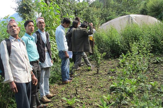 LBSAP Project site visited by a farmers group from a neighbouring district