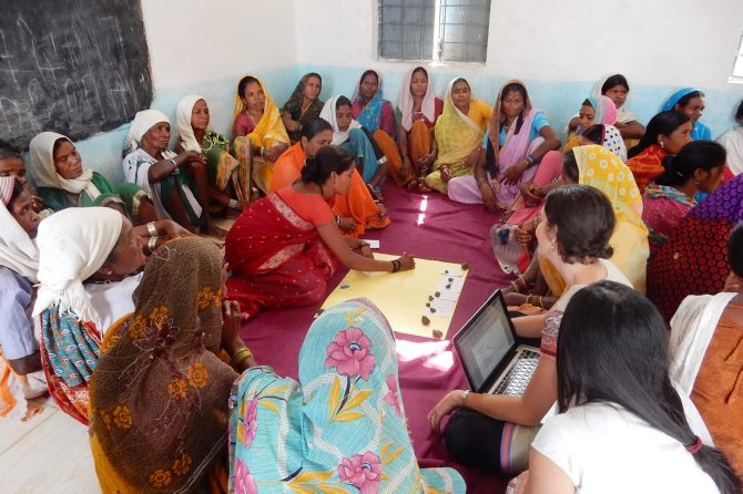 Community meetings to assess the status of NTFP resources