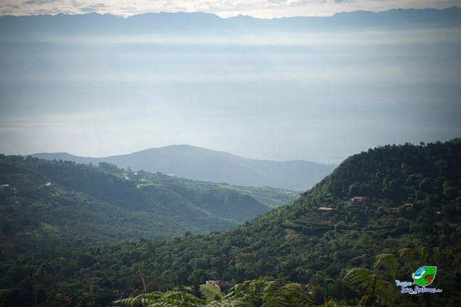 View of the key biodiversity area from San Antonio Forest Hill towards Cauca Valley