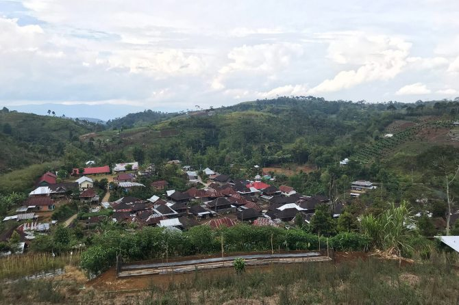Landscape of settlement and farming area in Pagar Alam
