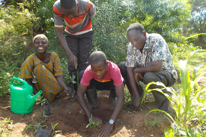 Local farmers participated planting activities