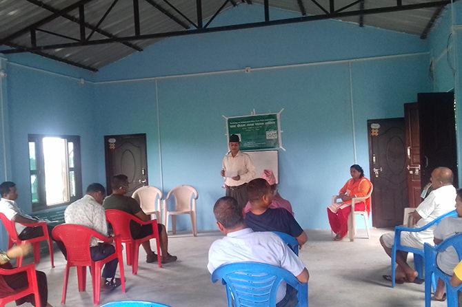 Training on paddy cum fish cultivation for local farmers