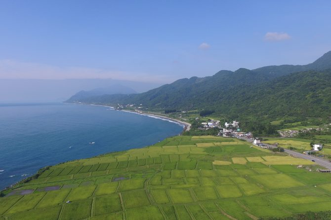 Landscape-seascape of Xinshe SEPLS, Hualien County, Taiwan